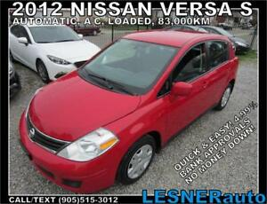 2012 NISSAN VERSA S -AUTO A/C LOADED 83,KM-  NO-ACCIDENTS