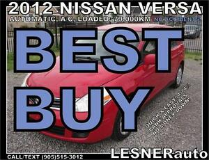 2012 NISSAN VERSA S -NO ACCIDENTS!   2010 2011 2013 2014 2015