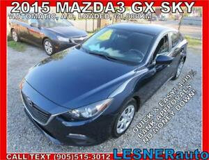 2015 MAZDA3 GX -$3000 DOWN, $214 for 60 months!  LESNERdirect