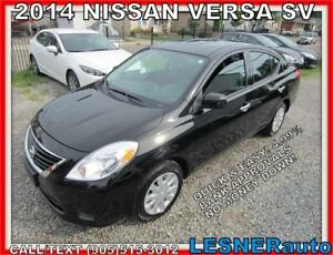 2014 NISSAN VERSA SV -AUTO A/C LOADED BLUETOOTH- NO-ACCIDENTS