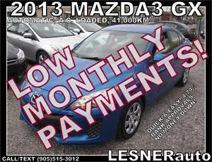 $3000 DOWN, $154 for 60 months! SALE$9980 -2013 MAZDA3 GS