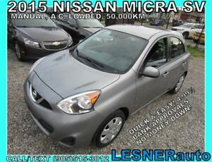 2015 NISSAN MICRA SV -AUTO A/C LOADED BLUETOOTH- NO-ACCIDENTS!