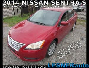 2014 NISSAN SENTRA S -AUTO A/C LOADED 86,KM- FACTORY-WARRANTY!