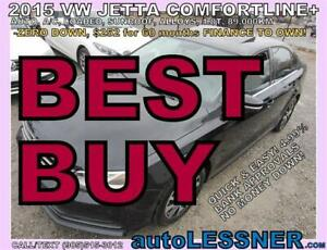 2015 VW JETTA COMFORTLINE SUNROOF ALLOYS -NO-ACCIDENT --BEST BUY