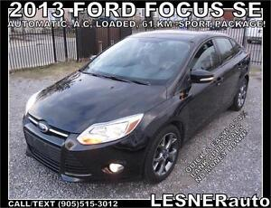 2013 FORD FOCUS SE -SPORT PACKAGE -AUTO LOADED 61,KM- BEST BUY