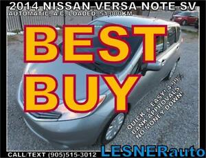 2014 NISSAN VERSA NOTE SV -AUTO A/C LOADED 51,KM- no-accidents!
