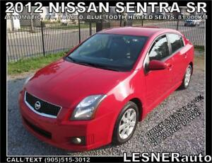 2012 NISSAN SENTRA SR -LOADED BLUE-TOOTH CC HEATED SEATS- 81,KM