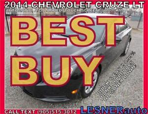 2014 CHEVROLET CRUZE LT -TOUCH SCREEN-64,KM -NO-ACCIDENTS!