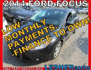 $3000 DOWN, $156 for 60 months! PRICE$9488 -2014 FORD FOCUS-