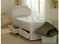 ⭐🆕 SUPER SALE LUXURY DIVAN BED BASES with MATTRESS - SINGLE, DOUBLE, KINGSIZE storage opt