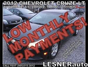 $3000 DOWN, $150 for 60 months! SALE$9688 -2012 CHEVROLET CRUZE