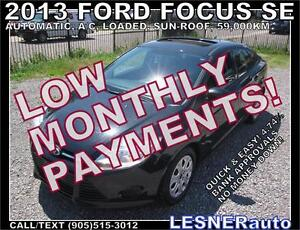 $3000 DOWN, $159 for 60 months! SALE$9988-2013 FORD FOCUS SE