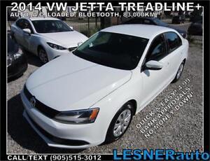 2014 VW JETTA TREADLINE+ AUTO LOADED 83,km- NO-ACCIDENTS
