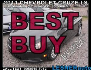 2011 CHEVROLET CRUZE LS -AUTO LOADED 85,KM- mint* -NO ACCIDENTS