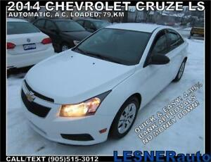 2014 CHEVROLET CRUZE LS -AUTO LOADED 79,KM FACTORY WARRANTY!