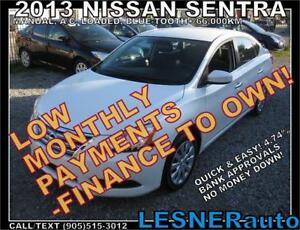 $3000 DOWN, $160 for 60 months! SALE$8488 -2013 NISSAN SENTRA