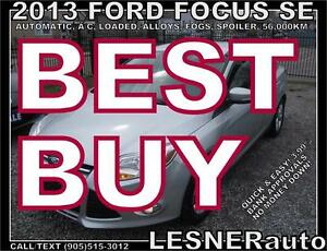 2013 FORD FOCUS SE -AUTO LOADED ALLOYS FOGS- FACTORY WARRANTY!