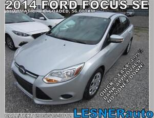 2014 FORD FOCUS SE -AUTO LOADED BLUETOOTH 56,KM- NO ACCIDENTS!