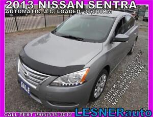 2013 NISSAN SENTRA SV -AUTO A/C LOADED 39,KM- NO-ACCIDENTS