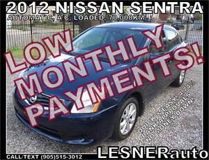 $3000 DOWN, $133 for 60 months! SALE$8480 -2012 NISSAN SENTRA