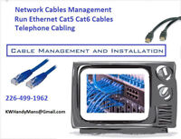 Ethernet Network Cables Management - Cat5e - Cat6 - RJ45 - Telph