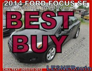 2014 FORD FOCUS SE -AUTO LOADED ALLOYS 72,KM- FACTORY WARRANTY!