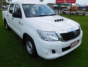 2014 Toyota Hilux KUN16R MY14 SR Double Cab White 5 Speed Manual Utility Hidden Valley Darwin City Preview