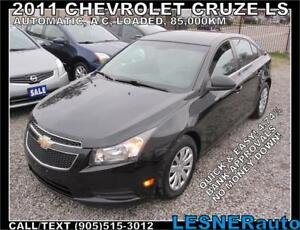 2011 CHEVROLET CRUZE LS -AUTO LOADED 85,KM- mint* -NO ACCIDENTS!