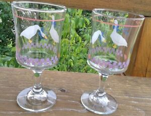 VINTAGE LIBBEY GLASS COUNTRY GOOSEY/GEESE PINK HEART G. Gatineau Ottawa / Gatineau Area image 4