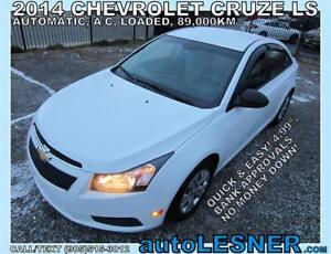 2014 CHEV CRUZE -ZERO DOWN $159 for 60 months FINANCE TO OWN!