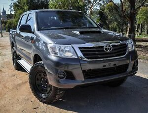 2015 Toyota Hilux KUN26R MY14 SR Double Cab Grey 5 Speed Manual Utility Medindie Walkerville Area Preview
