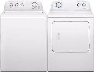 """Combo 27"""" Washer-Dryer Amana White/Laveuse-sécheuse blanches"""