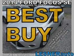2014 FORD FOCUS SE -AUTO LOADED ALLOYS 56,KM- FACTORY WARRANTY!