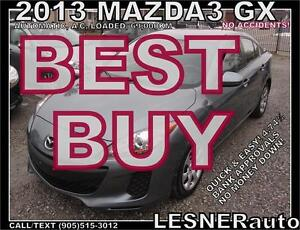 2013 MAZDA3 GX -AUTO LOADED 69,000KM- -NO ACCIDENTS!