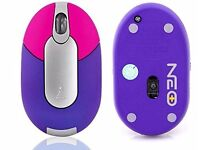 Mini Optical Computer Mouse - Support Window 7 / Vista / XP / 2000, Mac OS or later - PURPLE/ PINK