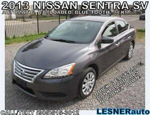 2013 NISSAN SENTRA SV -AUTO LOADED BLUE-TOOTH 94,KM- BEST BUYS!