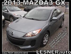 2013 MAZDA3 GX GX -AUTO A/C LOADED- 69,KM - LESNERdirect