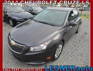 2014 CHEVROLET CRUZE LS -$156 for 60 months & $3000down!