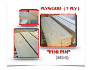 "(443-3) TABLETTES/ PLYWOODS (7)PLY (15""1/4 X 95""3/4 X 1"") 11.99$"