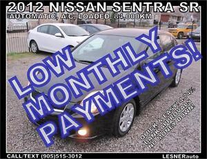 $3000 DOWN, $134 for 60 months! SALE$8988 -2012 NISSAN SENTRA SR