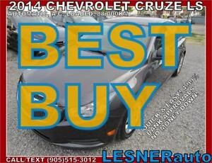 2014 CHEVROLET CRUZE LS -AUTO A/C LOADED 88,KM- NO-ACCIDENTS!