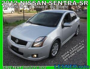 2012 NISSAN SENTRA SR -AUTO LOADED BLUE-TOOTH CC HEATED SEATS-