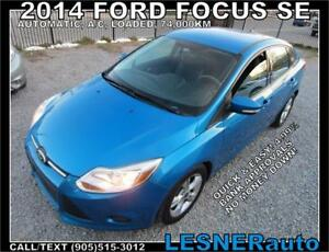 2014 FORD FOCUS SE -AUTO LOADED ALLOYS++ 74,KM- FACTORY WARRANT