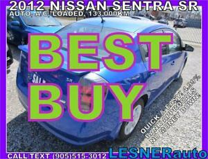 2012 NISSAN SENTRA SR -AUTO LOADED BLUETOOTH ALLOYS KEYLESS-