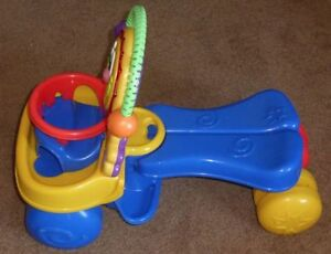 FP Go Baby Go Stride to Ride Lion Riding Toy Converts to Walker