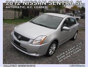 2012 NISSAN SENTRA -SL -AUTO, LOADED, ALLOYS, SPOLIER-