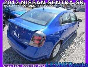 2012 NISSAN SENTRA SR -AUTO LOADED BLUETOOTH KEYLESS-