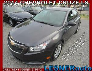2014 CHEVROLET CRUZE LS ----$3000 Down $156 for 60 months!