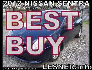 2012 NISSAN SENTRA S FE+ AUTO LOADED SPOILER ALLOYS 70,000KM