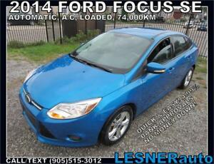 2014 FORD FOCUS SE AUTO LOADED -60months $160 -$3000down-